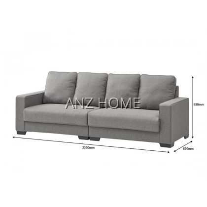 4 SEATERPREMIUM FABRIC SOFA - Sofa 4 Seater + Free Stool / Ready Stock / Delivery JB>KL
